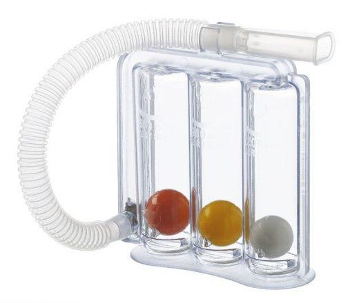 Üç Toplu Volumetrik Spirometre – Solunum Egzersizi Cihazı